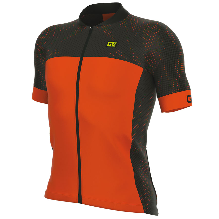 Cykeltröja kort ärm Ale Formula 1.0 Ultimate svart Orange Fluo qgQ11CD