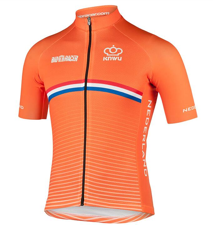 Cykeltröja kort ärm DUTCH NATIONAL TEAM zUB11xn