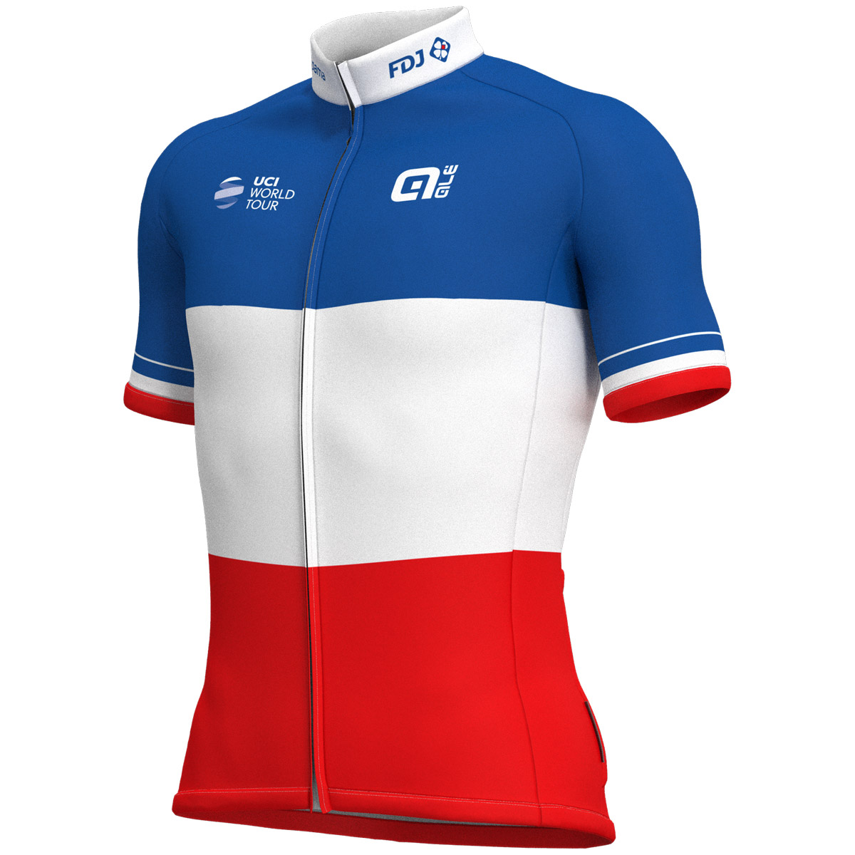 Cykeltröja kort ärm Groupama Fdj French Champion 2018